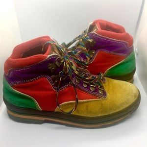 Rad Multi-colour Lace-Up Hiker Boots 🥾